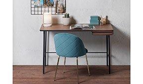 Mesa de escritorio grafito vintage Kesia