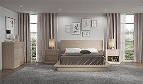 Dormitorio roble blanqueado Palm Beach
