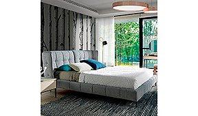 Cama tapizada de diseño italiano Gian para colchón 180x200