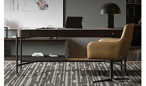 Mesa de escritorio tapizada Rosie