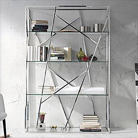 Muebles de acero y cristal