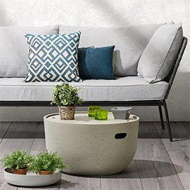 Muebles y decoración con cemento