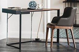 Mesa de escritorio 1 cajón moderno Clarion Cattelan