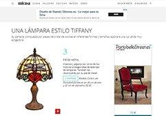 Una lámpara estilo tiffany