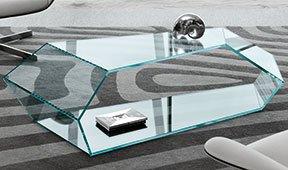 Mesa de centro cristal extraclaro Dekon Tonelli