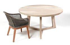 Mesa comedor redonda exterior madera teca