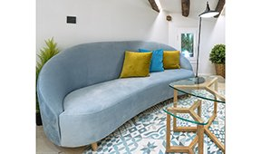 Sofá curvo diseño Bellucci