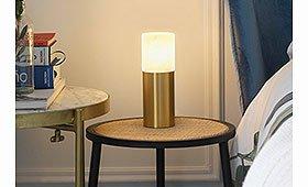 Lámpara de sobremesa Lind adorada y alabastro