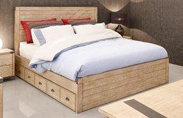 Cabecero y cama industrial Dyker