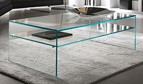 Mesa de centro cristal Fratina Tonelli