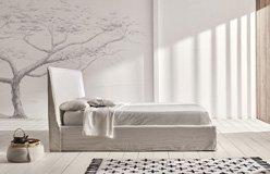 Cama con canapé tapizada Hermes