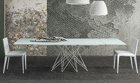 Mesa de comedor extensible cristal Octa Bonaldo