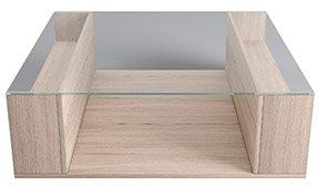 PORTOBELLO mesa de centro roble y cristal
