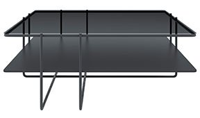 Mesa de centro metal y cristal varese Varila by Bodonni