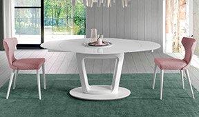 Mesa de comedor redonda extensible Antonella