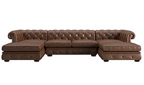 Sofá doble chaise longue chester Bodonni