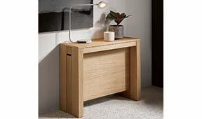 Consola convertible en mesa de escritorio y comedor de diseño