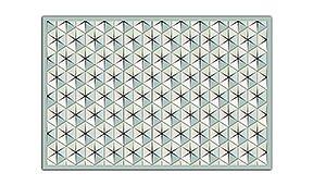 Alfombra hidráulica estrella hexagonal