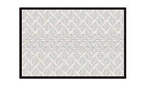 Alfombra hidráulica trenzas blanco y  negro