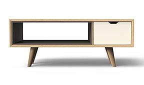 Mesa de centro rectangular nórdica Bosco