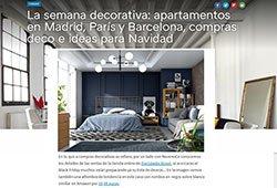 La semana decorativa: apartamentos en Madrid, París y Barcelona, compras deco e ideas para Navidad