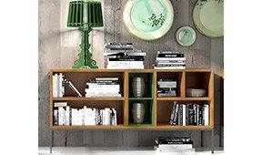 Librería baja industrial Loft Natur