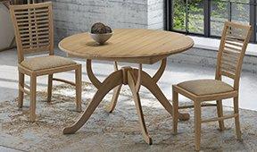 Mesa de comedor redonda extensible Vintage Kudre