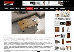 Troncos de madera convertidos en mesas