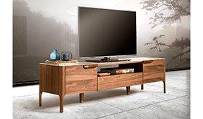 Mueble de TV moderno Nogal y cerámica Sivori
