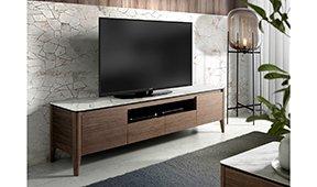 Mueble de TV moderno Nogal y cerámica Sivori II