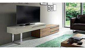Mueble TV moderno Nogal y laca Lomor