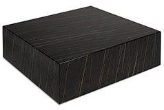 Mesa de centro cuadrada de diseño con ruedas Cube negra