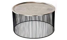 Mesa de centro hierro negro plata