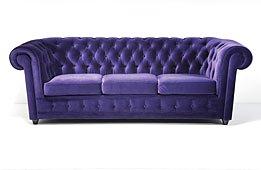 Sofa 3 Plazas Velvet Oxford