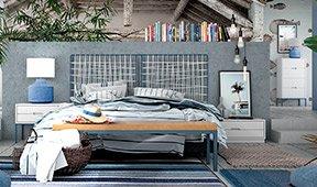 Dormitorio industrial Loft Natur