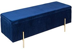 Baúl de almacenaje tapizado vintage azul Playwood