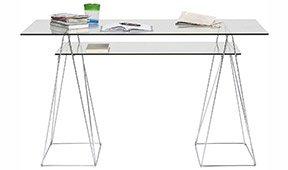 Mesa escritorio de cristal Polar
