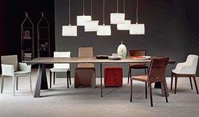 Consola mesa de comedor 5 extensibles moderna Convivium