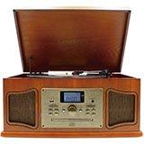 Tocadiscos vinilo clásico con CD y bluetooth