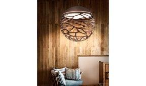 Lámpara de techo esférica Kelly
