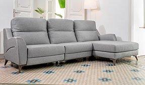 Sofá con chaise longue tapizado relax Gelarna