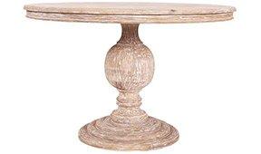 Mesa mango tallada patina