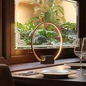 Lámpara de sobremesa circular de led Tivoli