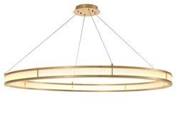 Lámpara de techo circular dorada Damien XL
