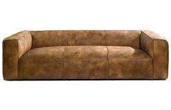 Sofá piel marrón claro