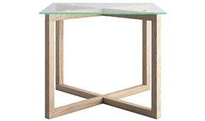 Mesa de comedor cristal nórdica Cross