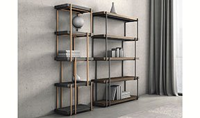 Librería moderna Rain Bonaldo