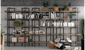 Librería modular industrial Loft