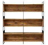 Librería industrial madera y metal Ipoh