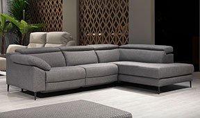 Sofá con chaise longue tapizado relax Hibai